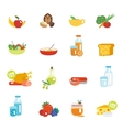 Healthy eating flat icons vector image vector image