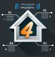 house abstract 3d icon business infographic four vector image