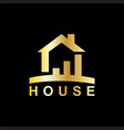 house building business logo vector image vector image