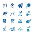 icons of genetic modification biotechnology and vector image vector image