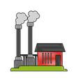 industrial factory icon image vector image