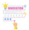 innovation concept clever think infographic vector image