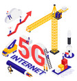 internet 5g technology isometric composition vector image vector image