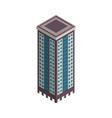 isometric skyscraper city building vector image vector image