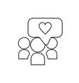 line social media chat bubble connect vector image