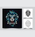 lion king artwork vector image