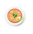 minestrone italian vegetable and mushroom soup vector image