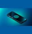 mobile data security concept smartphone with vector image