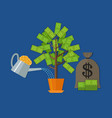 money tree concept vector image vector image