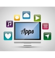 Multimedia mobile applications vector image vector image