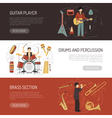 Musicians Horizontal Banners vector image
