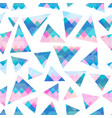 pastel triangle seamless pattern vector image vector image