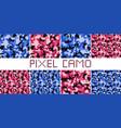 pixel camo seamless pattern big set vector image vector image