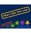 Pray For The USA Rubber Stamp vector image vector image