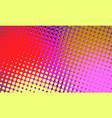 red yellow pink halftone retro background vector image vector image