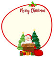 santa christmas card template vector image