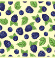 seamless pattern of stroberry vector image vector image