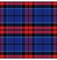 seamless red and blue Scottish tartan vector image