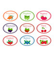 set of different round labels for jam with the vector image