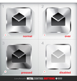 Set of four positions of Metal Contact Button vector image vector image