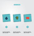 set of procuring icons flat style symbols with vector image