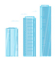 set three skyscrapers vector image