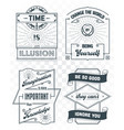 set vintage template quotes 02 vector image vector image