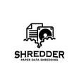 shredding paper data hardware services logo icon vector image vector image