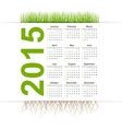 Simple calendar 2015 year Grass style