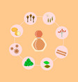spicy spices set for perfume vector image