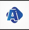 square symbol letter a design minimalist vector image vector image