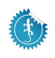 sticker salamander blue vector image vector image