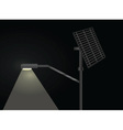 street light with solar panel vector image vector image