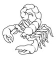 stylised scorpion vector image vector image