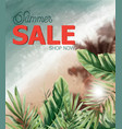 summer tropic seaside watercolor sea cost and vector image vector image