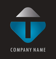 T business logo vector image vector image