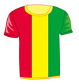t-shirt with flag guinea vector image vector image