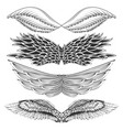 tattoo art design different gothic wing vector image vector image