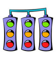 traffic lights icon icon cartoon vector image