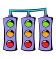 traffic lights icon icon cartoon vector image vector image