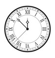 vintage clock with roman numerals isolated vector image