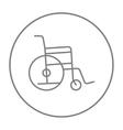 Wheelchair line icon vector image vector image