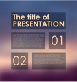 presentation panels on colored background vector image