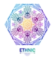 Mandala art card or background in ethnic style vector image
