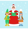 Christmas carols singers vector image