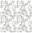 Cute cartoon doodle dog hand-drawn character vector image
