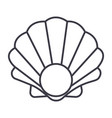 pearl shell line icon sign vector image