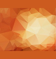 abstract geometric orange background with vector image vector image