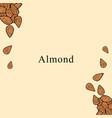 almond in cartoon style vector image