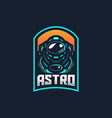 astronaut esport gaming mascot logo template for vector image